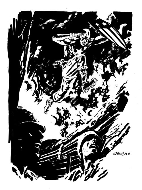 Captain America: The Fighting Avenger by Chris Samnee