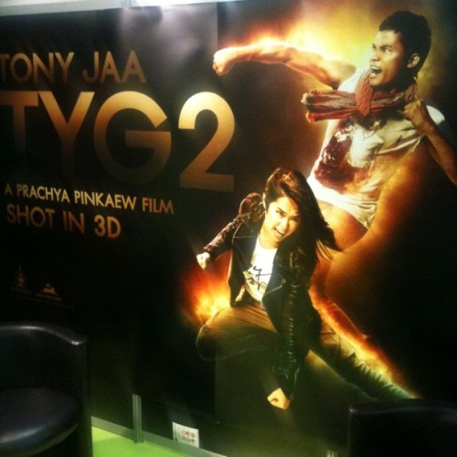 Awful movie poster of the day: Tony Jaa is… on fire #cannes (Taken with instagram)