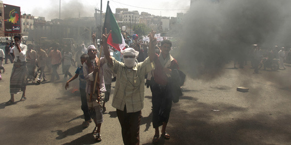 Yemen's Crackdown on Protesters Escalates to Air Strikes, Risking War  With forces loyal to President Saleh killing at least 170 and the opposition movement gathering more high-profile defectors, both sides could escalate the country's political conflict into all-out civil war  Read more at The Atlantic [Khaled Abdullah Ali Al Mahdi/Reuters]