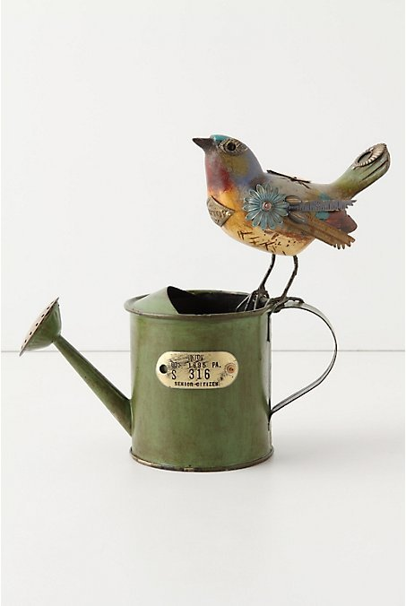 paperdollwithoutaheart:  Ohhh, Anthropologie.  Way to put a bird on it, then charge nearly $400 for a watering can.