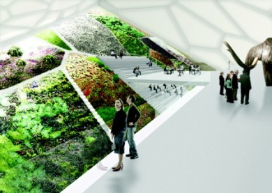 The architecture firm Leeser is proposing a fascinating integration of gardens into their design for the World Mammoth and Permafrost Museum in Yakutsk, Siberia. The museum will be built on permafrost, and so some of the garden integration is to help insulate the building in an effort to avoid heat transfer that could harm this delicate ecosystem. Via the Garden Visit blog.
