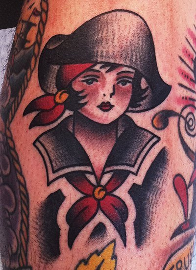 traditionaltattoos:  Mike Adams