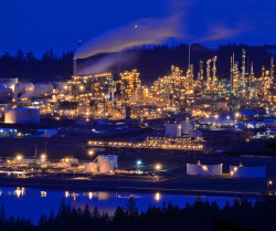 Oil Refinery on Fidalgo Island, Washington