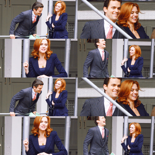 10 HQs of Matt Bomer and Hilarie Burton filming on SoHo; download link I love how they get along so well. THE LAUGHS YOU GUYS. I need this show back :')