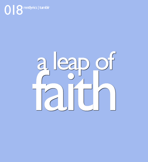 018. A leap of faith
