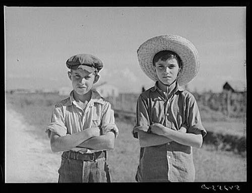 cajunboy:  Cajun children, Terrebonne Parish, 1940.  This would make a killer album cover.