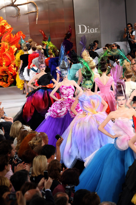 The colorful parade of dresses.