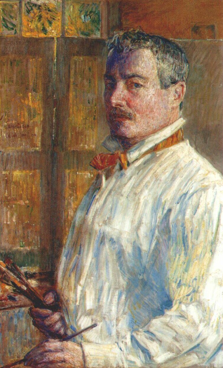 paperimages:  Childe Hassam  -  self-portrait, 1914
