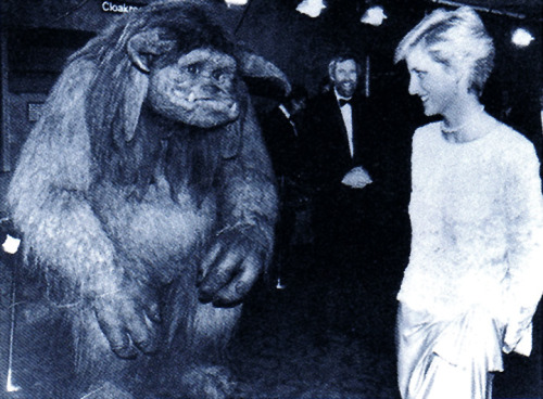 Princess Diana and Jim Henson at the UK premier of Labyrinth circa 1986. scanned from Jim Henson: The Works :: Random House Inc :: 1993