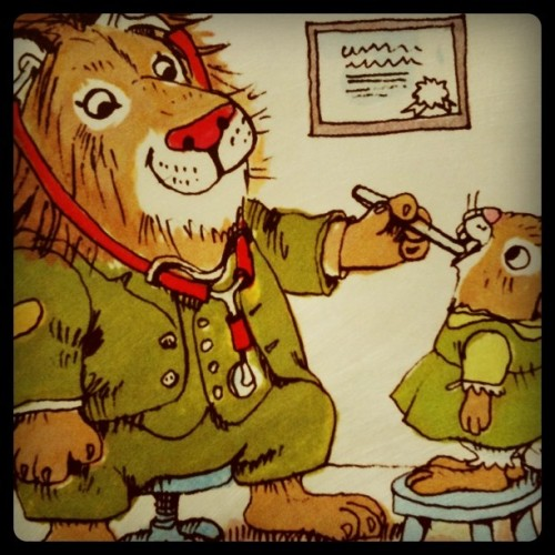 Sunday evening, I really like Richard Scarry books.