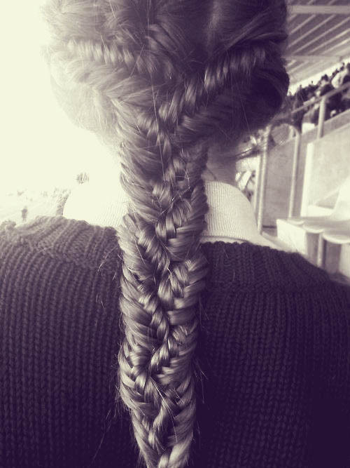 beautylish:  LOVE this braided fishtail look! Learn how to do a fishtail braid with this video tutorial, then do 3 fishtail braids, braid those and voilà! Beautiful! (image via pinterest.com)