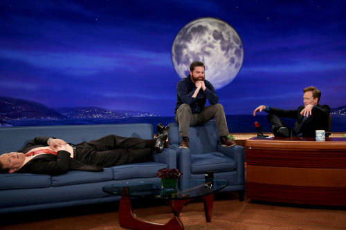 Andy, Zach Galifianakis, and Conan chillin'