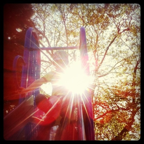 Spring. Sunshine. Slides. Swings. Squealing.  (Taken with instagram)