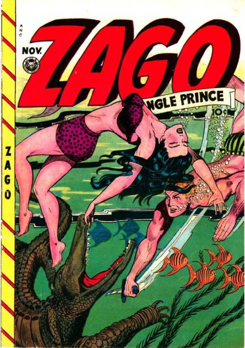 "(via The Comic Book Catacombs: Zago, Jungle Prince in ""The Insane Maiden!"" (Fox;1948))"