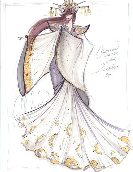 yoomyeeloves:  Amazing fashion illustration by Christian Siriano for NYC Opera.