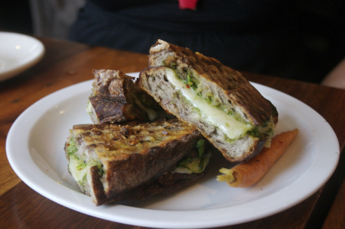 """Sopressata, Fontina & Broccoli Rabe Pesto Pressed Sandwich"""
