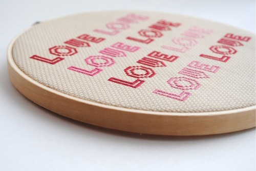 turquoisefeathers:  Big Love Cross Stitch by graceandlight