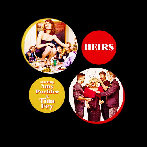 Pilot Idea | Heirs; Starring Amy Poehler and Tina Fey A comedy about two sisters, Catherine (Fey) and Kaitlin (Poehler), who inherit  an enormous fortune from their aunt (Betty White).        The two of them decide to act like sassy, rich divas whenever they're around other people.  Long story short, they meet two gentlemen who make them forget all about their act. Catherine falls for the hammsome doorman.  While Kaitlin is pleasantly surprised to find out that their accountant makes amazing waffles.  Hilarity ensues. Also starring: Jane Curtin as Kaitlin and Cath's mother; Gillian Jacobs as their personal stylist; Donald Glover as their personal trainer (who might hook up with their personal stylist) and Mindy Kaling as their personal assistant.