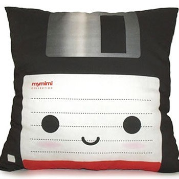 Pillow That Looks Like A Floppy Disc Thx: Andrew W.!