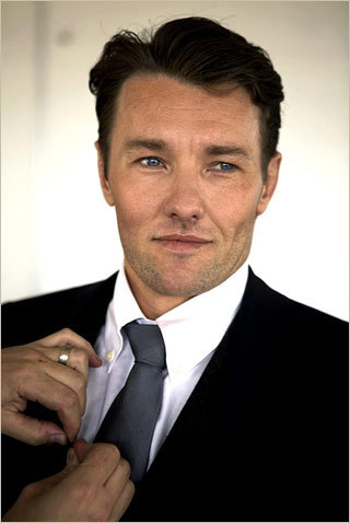 Meet Australian actor Joel Edgerton, who's playing Tom Buchanan in Baz Luhrmann's adaptation of The Great Gatsby. (Edgerton is replacing Ben Affleck, who dropped out to direct Argo.) This exclusive photo of Edgerton shows the actor in character as he works with Luhrmann on the project. Do you think he has what it takes to be a credible threat to Leonardo DiCaprio, who's playing Gatsby?