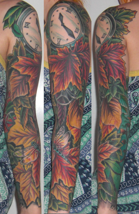 tattoome:  Sleeve by Håkan Åkerman from Stockholm, Sweden (www.circletattoo.com). http://omgnosebleed.tumblr.com