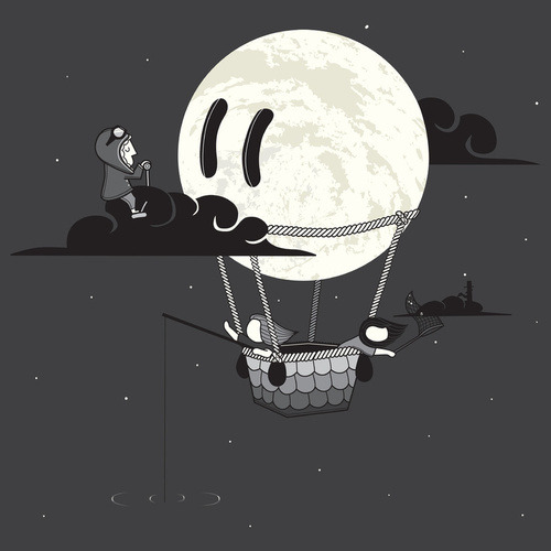bookspaperscissors:  You Should See The Moon In Flight by Aaaron Thong