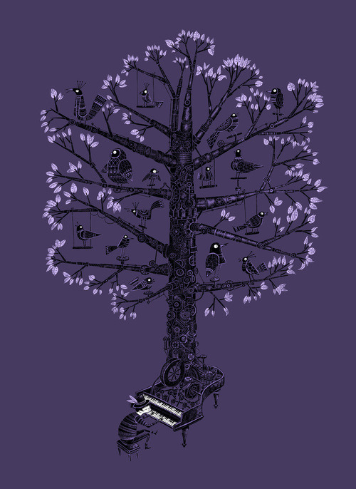 bookspaperscissors:  The Symphonic Tree by Malo Tocquer