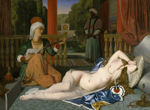 oldpainting:  Jean-Auguste-Dominique Ingres - Odalisque with Slave [1842] by Gandalf's Gallery on Flickr. Via Flickr:See: gandalfsgallery.blogspot.com/2010/07/jean-auguste-dominiq…