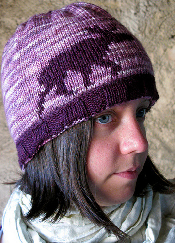 missviciouslovestoknit:  Double knitted elg hat (reversed) (by inasonntag)