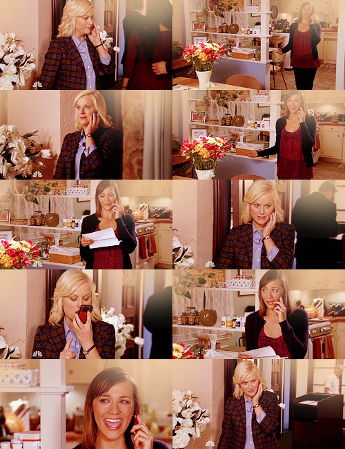 "Leslie: Ann, we have a serious code Ben.Ann: Well, it's not really code if you say his name. Leslie: He told me that he liked me and I'm gonna go make out with him right now on his face.Ann: That's awesome!Leslie: No, no, read me the script.Ann: Seriously?Leslie: Yes.Ann: All right. ""Leslie, it's Leslie Knope from the Parks Department speaking to you through Ann Perkins friend and beautiful nurse."" Thank you. ""Do not do anything with Ben. Be responsible, no matter how cute his mouth is. YOUR JOB IS ON THE LINE!""Leslie: Shut up, Ann!Ann: You wrote that.Leslie: No, you… then Leslie, Leslie, you don't know what you're talking about. I care about him very much, and I've had 2 1/2 glasses of red wine and what that means is I'm gonna go make out with him right now and it's gonna be awesome.Ann: Yay!Leslie: No, you're supposed to talk me out of this.Ann: No, don't, stop.Leslie: Shut up, Ann, I'm doing it anyway.Ann: Yaaaaaay!"