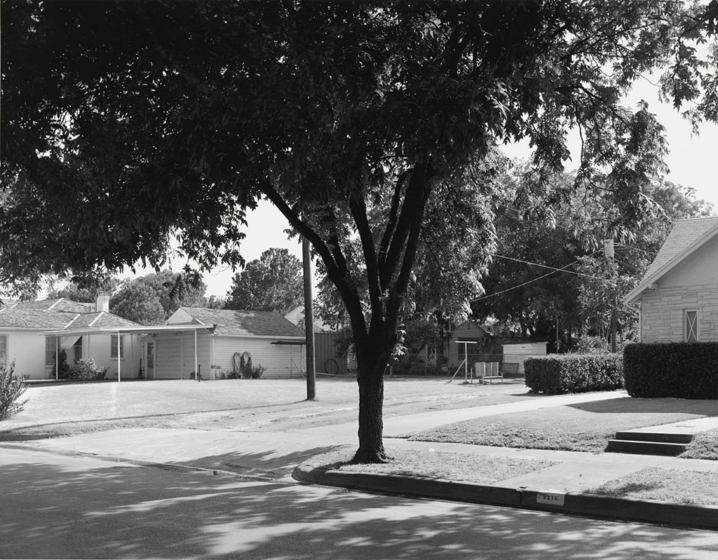 "Frank Gohlke ""Heat and Shade - 3200 Block of Milby Avenue, Wichita Falls, Texas, 1980"""