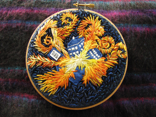 "insignificantlittlethings:  ""The Pandorica Opens"" - Doctor Who Embroidery"