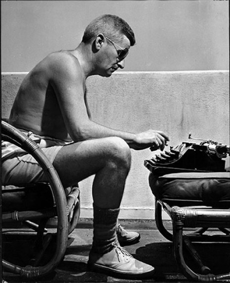 jessbennett:  youmightfindyourself:  William Faulkner, Hollywood, 1940s // SEE: writers and their typewriters  Posting this while procrastinating being a writer at my laptop (which does not look nearly as cool as being a writer with my typewriter). Go figure.