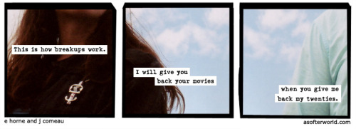 A Softer World: 675 (I didn't mean money, but okay?)