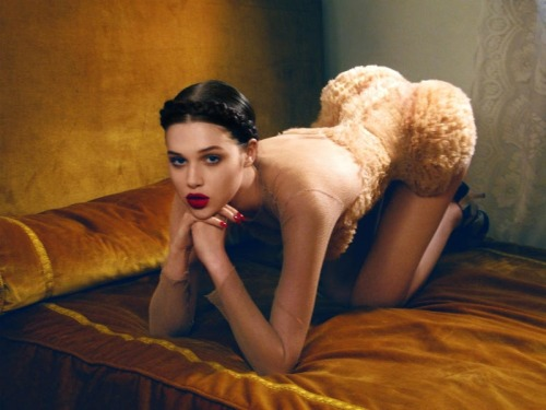 Another killer image of Anais Pouliot in Numero Issue 123. I love me some tulle booty! (Image via Fashionising)