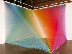Plexus 5 by Gabriel Dawe  The latest thread installation from artist Gabriel Dawe (previously) is on display through the end of this weekend at the Pump Project Art Complex as part of the Texas Biennialin Austin.-via Colossal