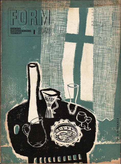 Form Magazine No. 1, 1948 Design magazine published by the Swedish Society of Arts and Crafts. Cover by Tapio Wirkkala.
