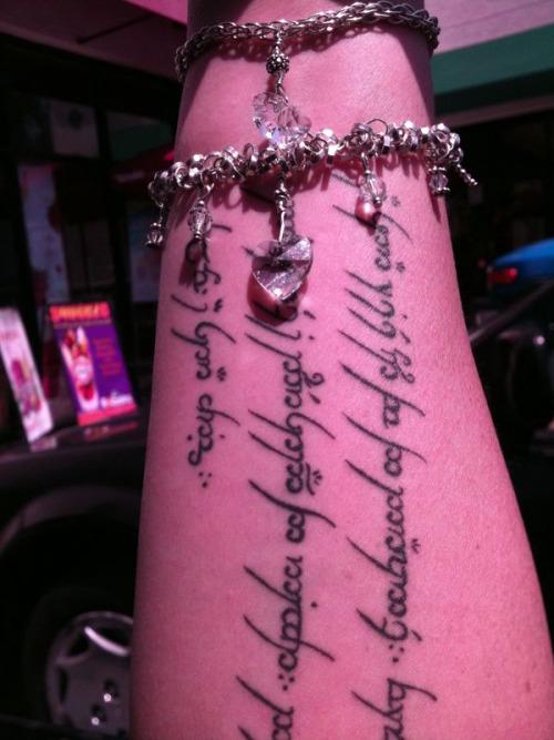 My Elvish Tattoo adorned with