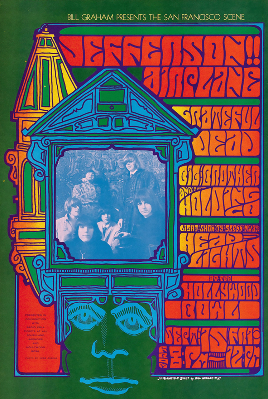 Jefferson Airplane, Grateful Dead, Big Brother and the Holding Company September 15, 1967, Hollywood Bowl