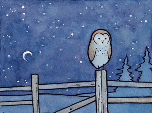 Another owl print up in the shop!