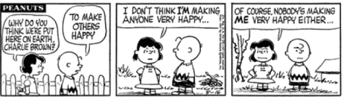 "Did you know ""Peanuts"" was heavy? 3eanuts:  August 16, 1961 — see The Complete Peanuts 1959-1962"