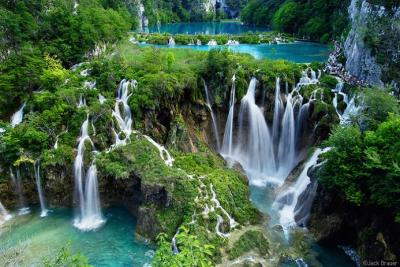 Plitvice Lakes National Park:  What is a paradise for you? Is it something like a castle? a mansion? a beach? This place would consider one of it. Gorgeous isn't it? :))