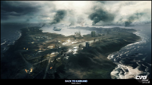 "Battlefield 3 ""Back to Karkland"" DLC concept for the map Wake Island."
