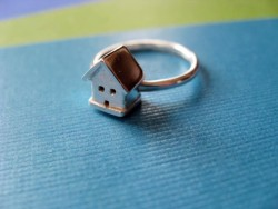 Tiny House Ring Sterling Silver by JDavisStudio