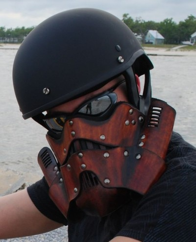 Leather Steampunk Trooper Motorcycle Mask [Etzy]