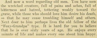 "From ""The Boys Venereal Peril"", 1909. I sure hope ""foxy grandpa"" meant something back then than it does now."