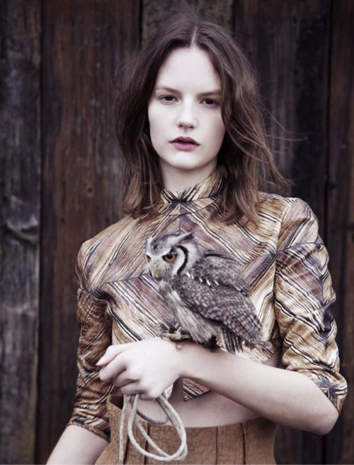 anabundanceof:  SARA BLOMQVIST IN RODARTE FOR TWIN #4 BY BEN TOMS