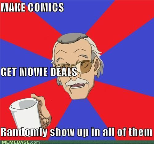"Half the fun of watching anything marvel related is to play ""spot Stan Lee"""