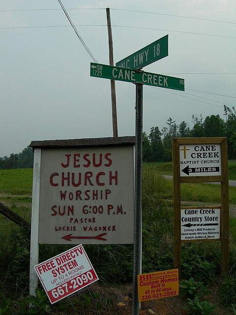 Typical Rural North Carolina Intersection by p2wy on Flickr.This picture was taken about a mile from where I grew up.