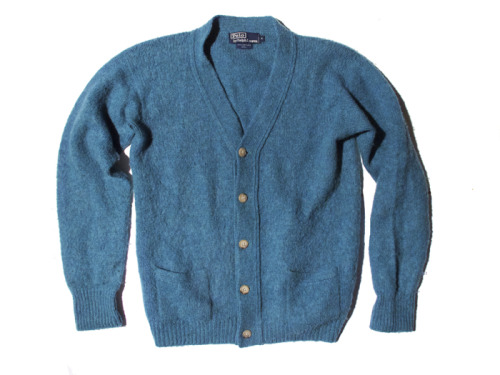POLO RALPH LAUREN GREEN CARDIGAN SWEATER